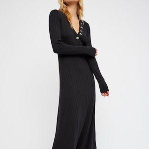 NWT Black Free People Sunflower Maxi Dress XS